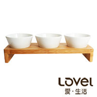~Lovel~鄉村風托盤餐具組 ^#45 沙拉三圓 ^#40 中 ^#41