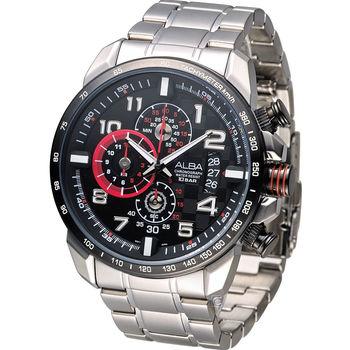 雅柏 ALBA SignA 重機型男時尚計時腕錶 VK67-X007D AV6027X1