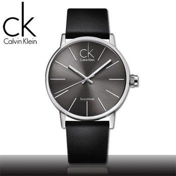 【瑞士 CK手錶 Calvin Klein】時尚風格-極簡大錶徑流線中性錶(K7621107)