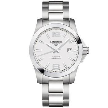 LONGINES 深海征服者300米機械錶 銀 L36774766