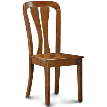 【椅吧】簡約鄉村風實木餐椅