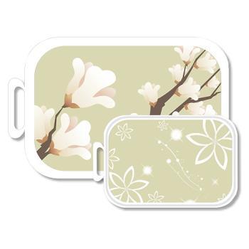 韓國奈米銀抗菌砧板(水彩花卉) 大小2入裝