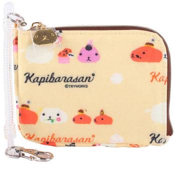 kapibarasan 水豚君甜點系列車票夾掛包。黃色
