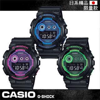 【CASIO 卡西歐 G-SHOCK 系列】日本限量款-靚眼上市運動錶-當兵首選款(GD-120N)