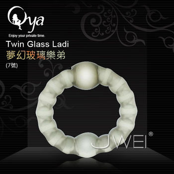 Oya - Ladi Com樂弟康 頂級入珠鎖精延時環-夢幻玻璃珠版