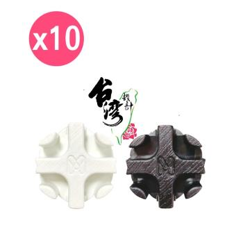 【inBOUND】百變收納櫃系列接頭零件包(10入) 白色/黑色