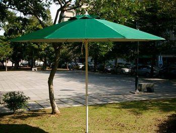 BROTHER 兄弟牌九尺玻璃纖維骨架+鐵管烤漆防水太陽傘 (綠色大型 2.7m)