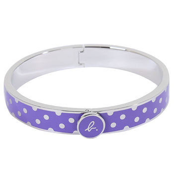 agnes b.- 銀色點點手環(紫底銀邊)