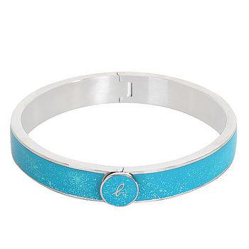agnes b.- 手環(藍綠底銀邊)