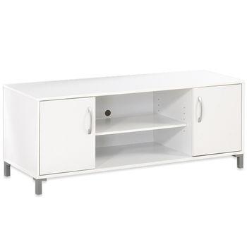 【Hopma】時尚白雙門電視櫃