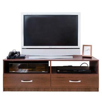 【Hopma】胡桃木色現代二抽電視櫃