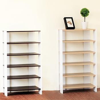 【Hopma】胡桃配白多功能組合式十一層鞋櫃