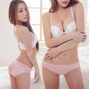 【Anna Mu】浪漫香氣!粉嫩緹花蕾絲內褲
