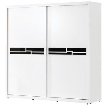 【時尚屋】[G15]布萊恩烤白5尺推門衣櫃025-5