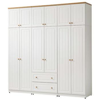 【時尚屋】[G15]鄉村風純白7x8尺衣櫃024-1