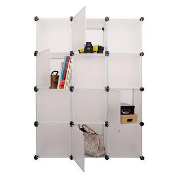 【inBOUND】百變創意12格12門 DIY 組合收納櫃 (瓷雪白)