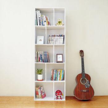 【Hopma】時尚白多功能五層書櫃