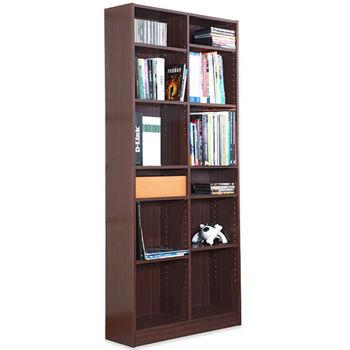 【Hopma】胡桃木色十二格書櫃/收納櫃