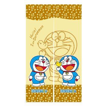 哆啦A夢Doraemon和風長門簾-黃150x85cm