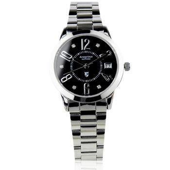 【Arseprince】時尚簡約晶鑽女錶-黑色