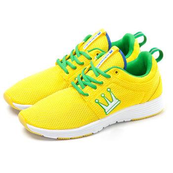 【DADA】LEWIS RUN 復古經典網面高彩慢跑鞋-女(黃TWRT369YZW)