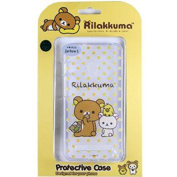 Rilakkuma 拉拉熊/懶懶熊 ASUS ZenFone 5 彩繪透明保護軟套-點點好朋友