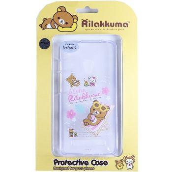Rilakkuma 拉拉熊/懶懶熊 ASUS ZenFone 5 彩繪透明保護軟套-Fun Fun熊