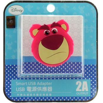 【Disney】立體造型2A充電轉接插頭 USB轉接頭-熊抱哥