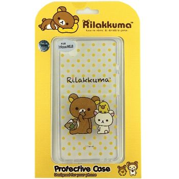 Rilakkuma 拉拉熊/懶懶熊 InFocus M810 彩繪透明保護軟套-點點好朋友
