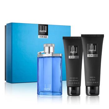 【Dunhill】藍調男性淡香水禮盒 (淡香水100ml+沐浴精90ml+鬚後凝露90ml)