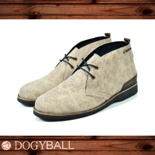 【Dogyball】Discovery經典帆布沙漠靴 (棕灰色)