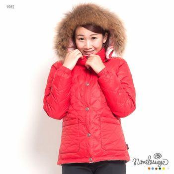 日本namelessage無名世代女款保暖雙面穿羽絨外套(紅)_42W21