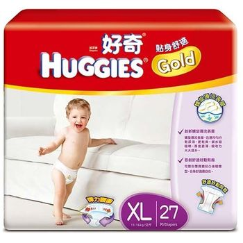 【金好奇】貼身舒適紙尿褲XL(27片x6包)/箱