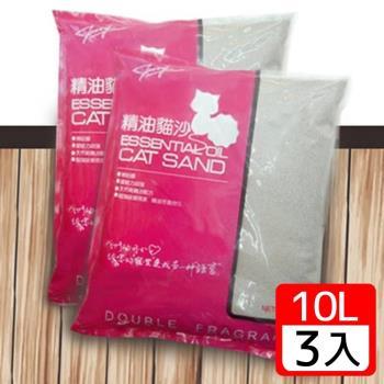 【嚴選ECS】無粉塵天然海洋玫瑰精油貓砂 10L x 3包