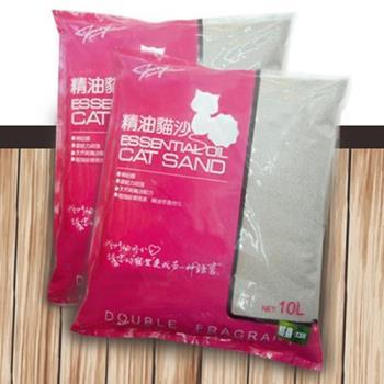 【嚴選ECS】無粉塵天然茉莉花香精油貓砂 10L x 3包