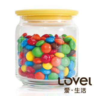 【Lovel】時尚餐廚系列-玻璃真空密封罐500ml(香蕉黃)