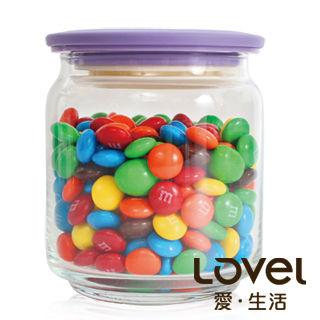 【Lovel】時尚餐廚系列-玻璃真空密封罐500ml(葡萄紫)