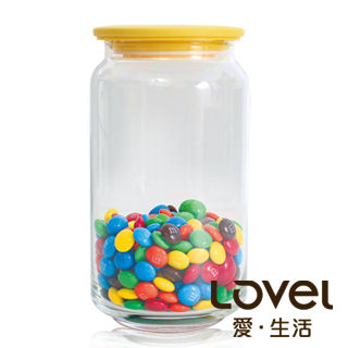【Lovel】時尚餐廚系列-玻璃真空密封罐1000ml(香蕉黃)