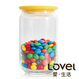 【Lovel】時尚餐廚系列-玻璃真空密封罐750ml(香蕉黃)