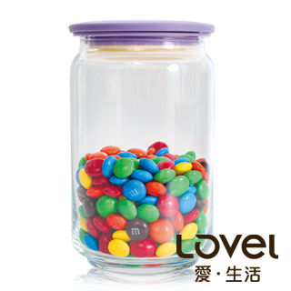 【Lovel】時尚餐廚系列-玻璃真空密封罐750ml(葡萄紫)