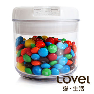 【Lovel】時尚餐廚系列-彈壓式真空密封罐400ml(圓)