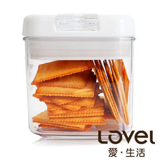 【Lovel】時尚餐廚系列-彈壓式真空密封罐500ml(方)