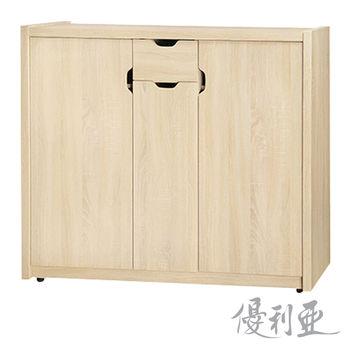 【優利亞-田園風情】4尺開門鞋櫃(2色可選)