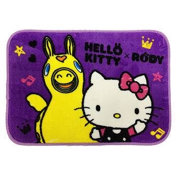 【HELLO KITTY x RODY】Hello Friend法蘭絨地墊1入(紫色)