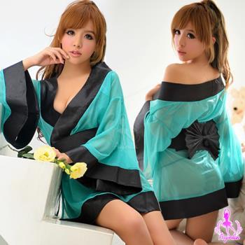 【Ayoka】湖水綠三件式和服角色扮演服