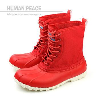 native JIMMY 防水 輕量 舒適 靴子 戶外休閒鞋 紅 女款 no260