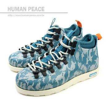 native FITZSIMMONS 防水 輕量 迷彩 靴子 戶外休閒鞋 藍 男款 no259