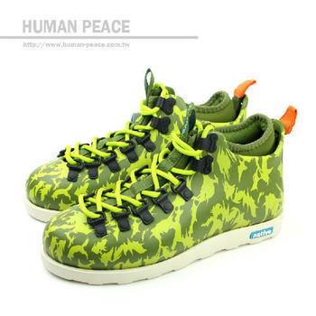 native FITZSIMMONS 防水 輕量 迷彩 靴子 戶外休閒鞋 綠 男款 no257