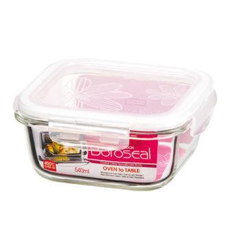 樂扣樂扣耐熱玻璃保鮮盒正方形540ML(LLG215)