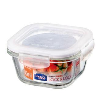 樂扣樂扣耐熱玻璃保鮮盒正方形300ML(LLG205)